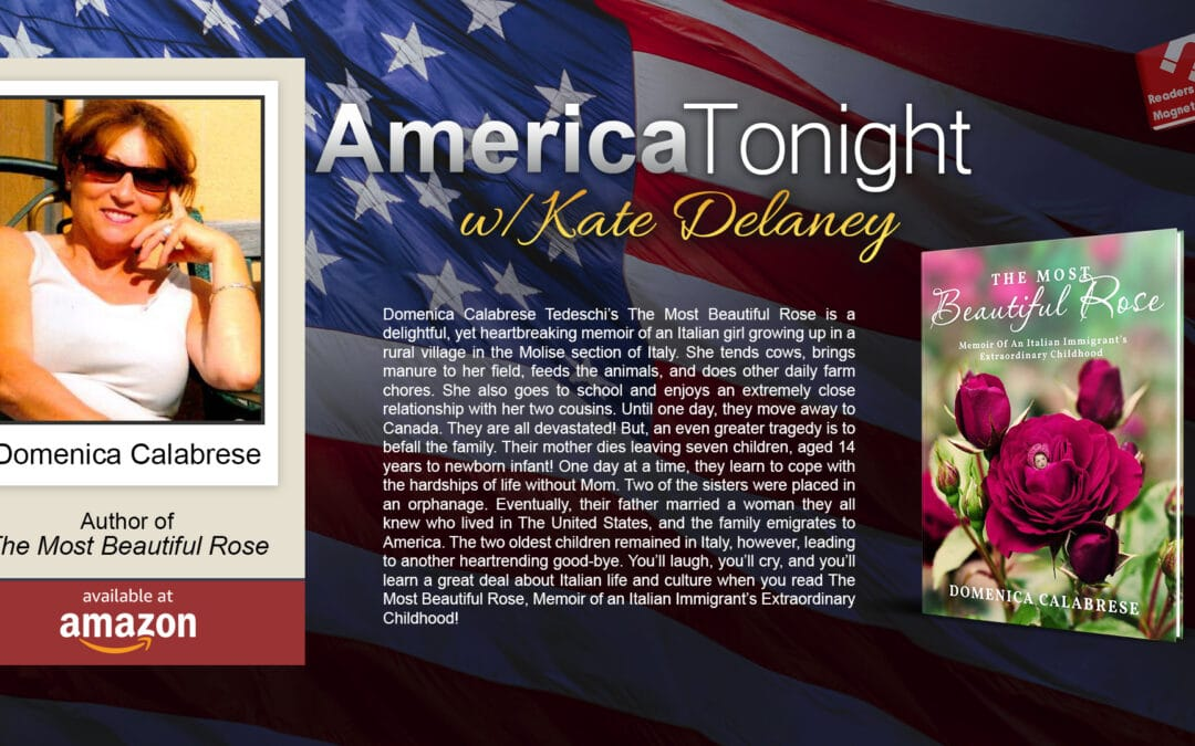 ReadersMagnet Review: Radio Interview with Kate Delaney featuring Domenica Calabrese Tedeschi