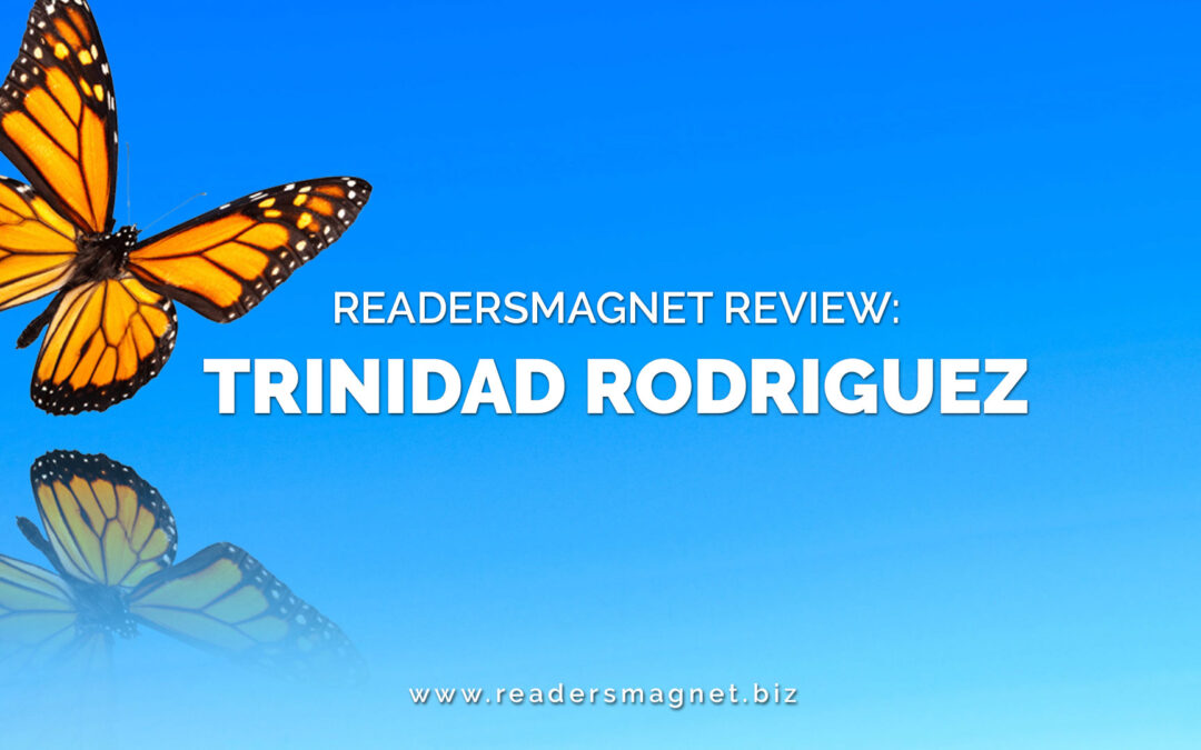 readersMagnet Review blue banner + butterfly