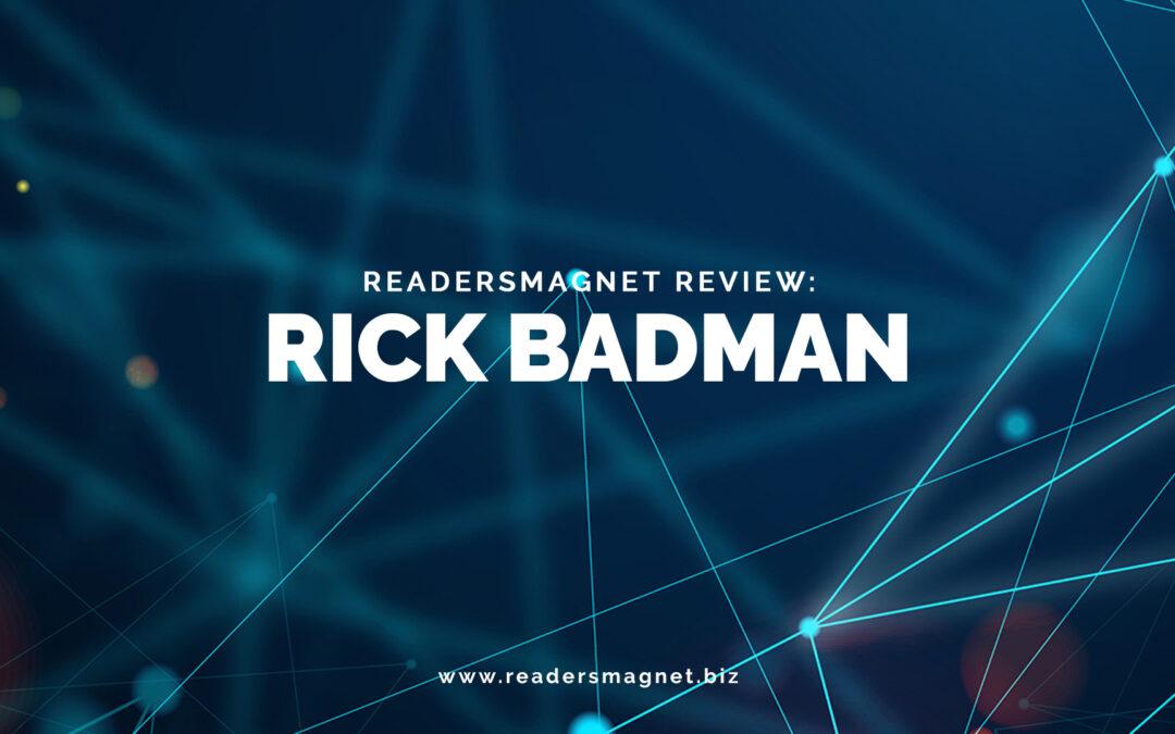 ReadersMagnet Review: Rick Badman